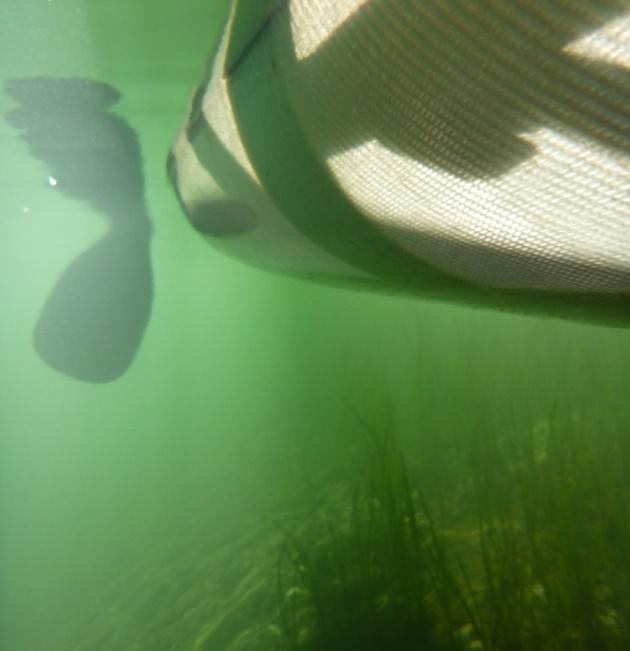 Fish-eye view of canoe paddling adventures