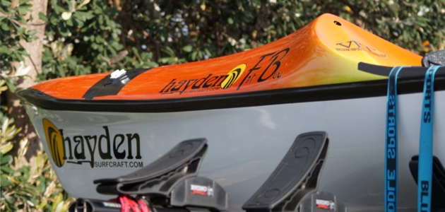 Hayden Fat Boy surfski - the nose of the PR2 combined with more width behind the seat