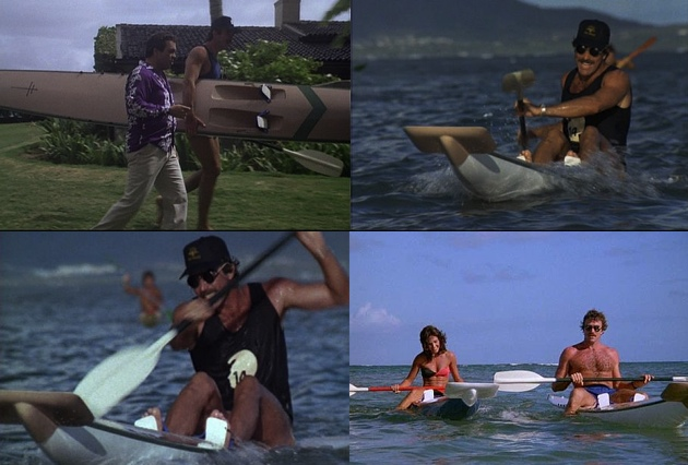 Magnum PI with his Hayden surfski, pulling the ladies
