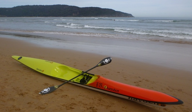 The Hayden Fat Boy spec surfski (Ocean Beach, NSW)