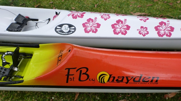 Stellar SR surfski vs the Hayden Fat Boy spec ski