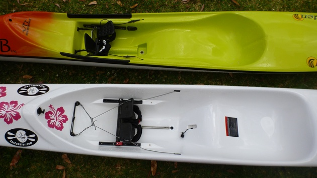 Stellar SR surfski vs the Hayden Fat Boy spec ski - cockpit