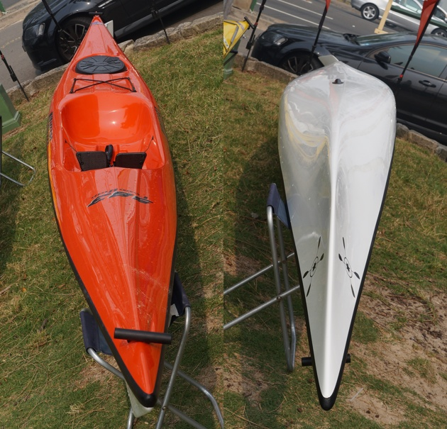 The Mirage 583 has exactly the same hull as a Mirage 582 sea kayak, but with a new open deck format