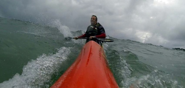 After months of flat water paddling, even choppy muck feels good!