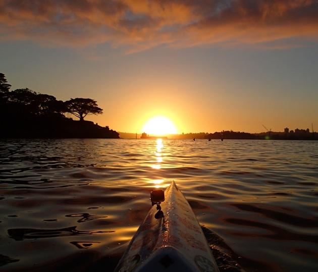 Sydney Harbour put on a spectacular sunrise