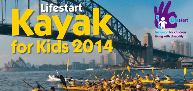 The Lifestart Kayak for Kids 2014 - A Great Paddle on a Great Harbour for a Great Cause