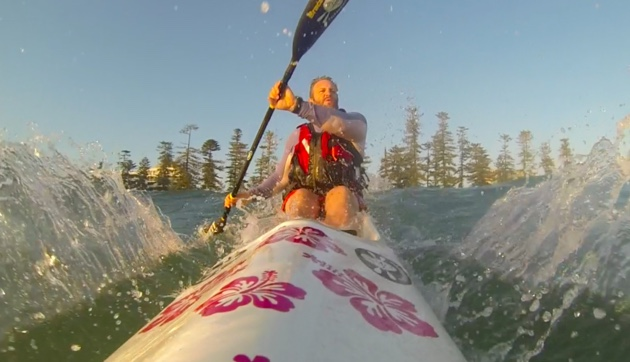 The best part about paddling through surf is knowing you soon get to surf back in