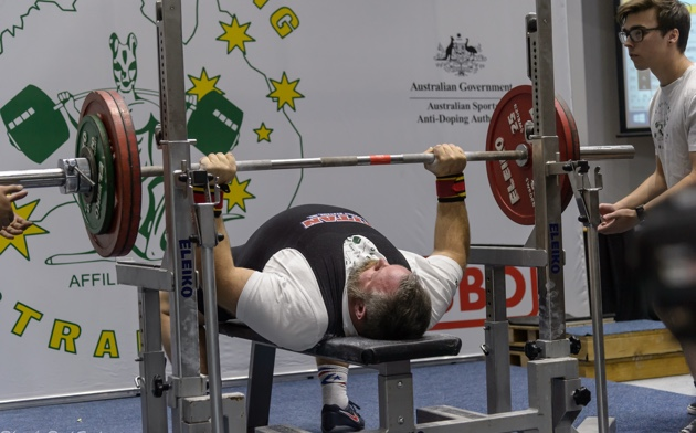 Competing at the recent Australian Junior & Masters Powerlifting Championships
