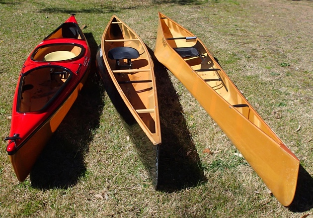 (from left to right) Wenonah Canak, Wenonah Advantage, Wenonah J203
