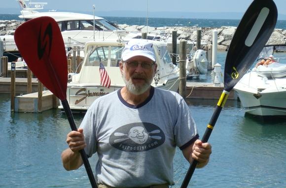 A Fat Paddler sited at Leland Harbor, Lake Michigan USA (thx Chuck!)
