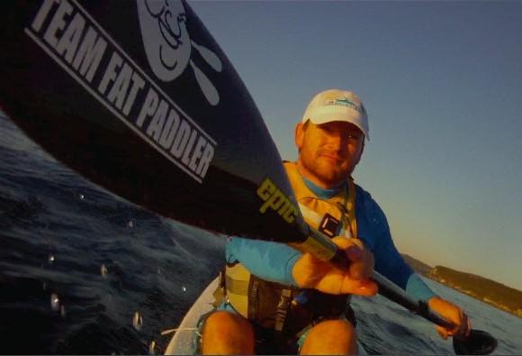 The Team Fat Paddler ocean ski contingent, Sydney Habour - Nat