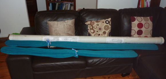 Travel tube, and Adanac paddles in their booties
