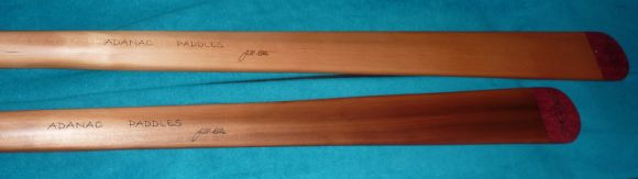 Full-length and storm-length Greenland paddles