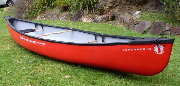 The Mad River Explorer 14TT, perfect for safe family paddling