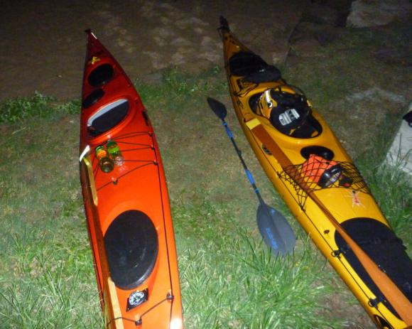 Boats in the darkness, banks of the Hawkesbury River