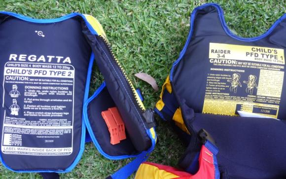 Check that the PFDs meet the safety standards of your country or territory.