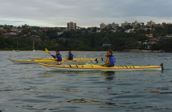Cruising past Balmoral Beach. A little less stuffy than the boardroom!