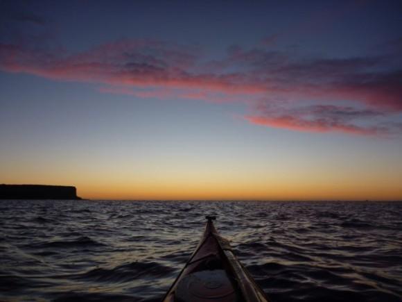Breaking light over the Tasman Sea. Beautiful.