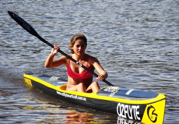 OZFlyte / SHK Team Paddler Amy Nurthen from Terrigal