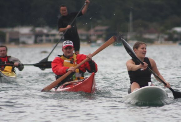 Team Fat Paddler chasing down their competitors. Look at the fear on their faces. Smell their terror! (again, thanks to Pete Morgan and Mitchell Gailbraith for the pic)