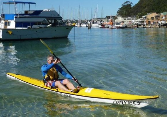 Ian... got to see a bit more of the Harbour than a just a test paddle!