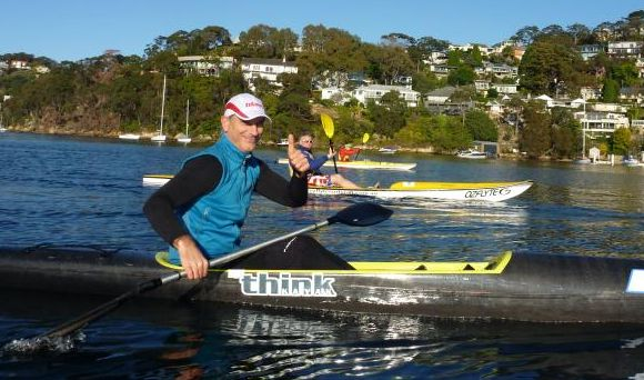 Blast Paddlers supremo Dez Blanchfield on his carbon fibre Think Uno