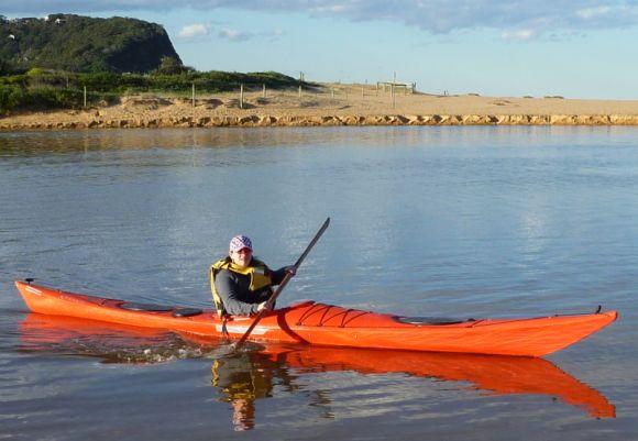 Mrs FP captures FP's kayak during a dawn raid