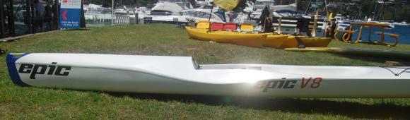 Epic V8 Ocean Ski - sleek, sexy, and very, very white!