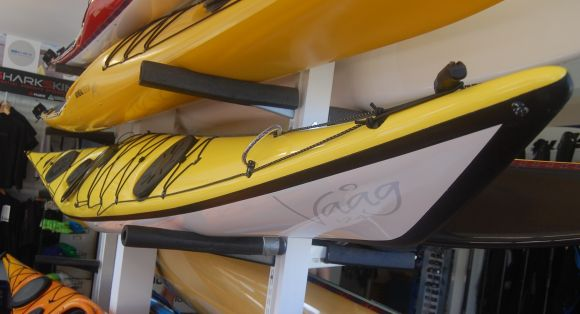 Maelstrom Vaag up on the rack at Sydney Harbour Kayaks