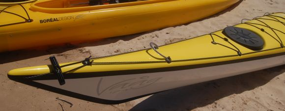 Note the loop on the front of the bow - great for slipping your Greenland paddle into!