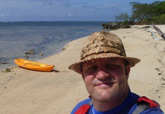 A sunburnt FP admires his deserted tropical beach