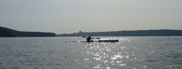 Early morning Blast paddlers at Balmoral Beach