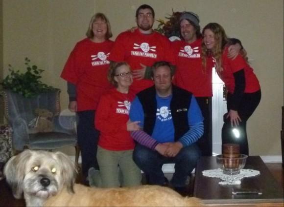Team Fat Paddler! Clockwise from FP - Diane, Chris, Steve, Joe and Helen.