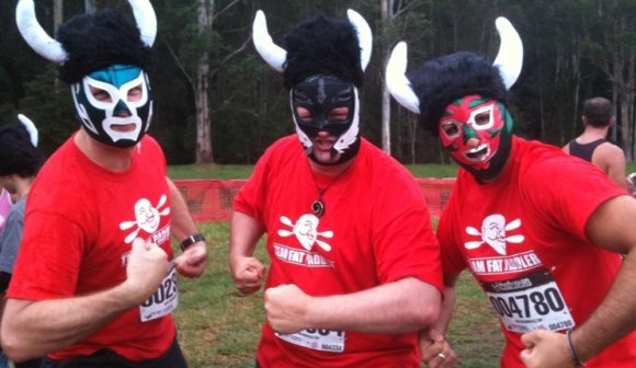 Team Fat Paddler - Alan, FP and Gelo. Scary!
