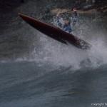 Eric Breaks the Wave Barrier in a Tsunami X-1 Rocket (photo by Jim Kakuk)