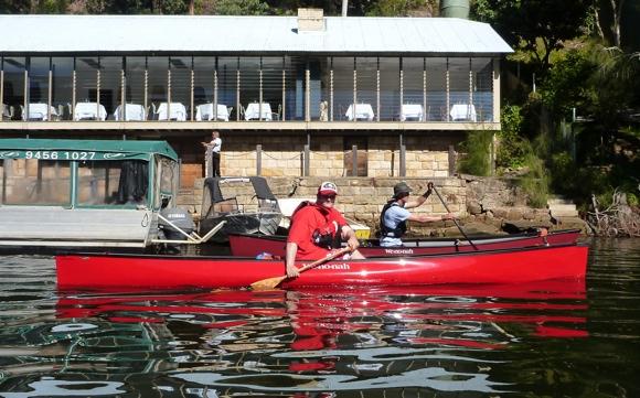 Two beautiful Wenonah canoes cruising NSW water