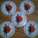 QajaqJPN Samurai Stickers - raising money for victims of the earthquakes and tsunamis