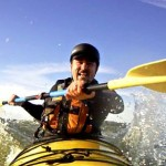 Midshipman Mike, stoked at catching his first wave. Woohoo!