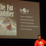 Launch of The Fat Paddler onstage at the Sydney International Boat Show