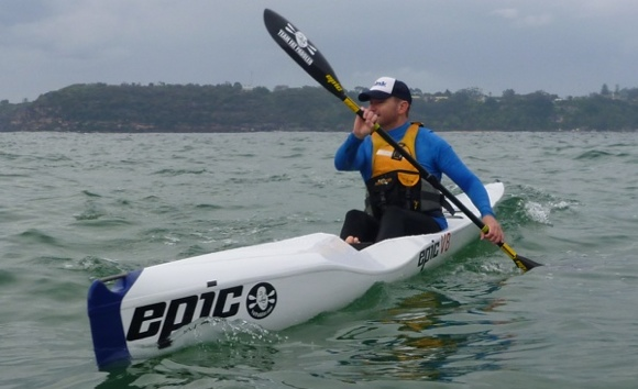 Lt Nat on his Epic V8 Ocean Ski... a touch skinnier and longer than my Remix XP10