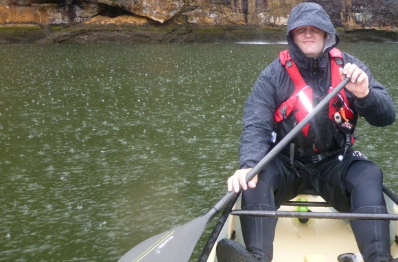 A wet but happy Fat Paddler - any paddle is a good paddle!