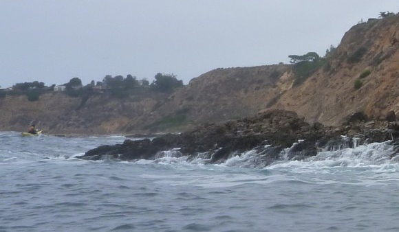 I sat mesmerised, watching the swell moving in and out of the Palos Verdes rocks