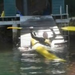 Seaman Riddler about to demonstrate the effectiveness of the non-paddle-brace