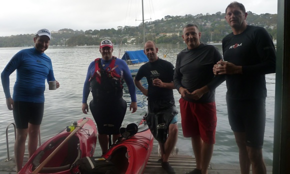Team Fat Paddler and Friends on Middle Harbour