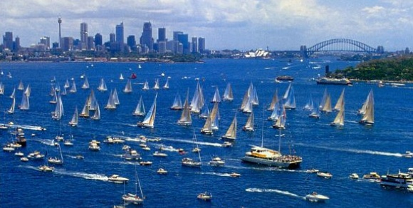Sydney Harbour comes alive at the start of the Sydney to Hobart Yacht Race