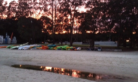 Rose Bay at 5.30am. A spectacular sunrise for the Summer Series Race 2