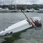 Nat loves to spend more time in the water than on his surfski, apparently