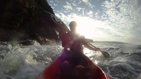 More fun on my Stellar SR surf ski. Getting more addicted every week!