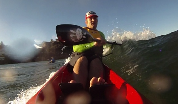 Most surfski paddlers like to catch runners forward, I happen to like getting sideways