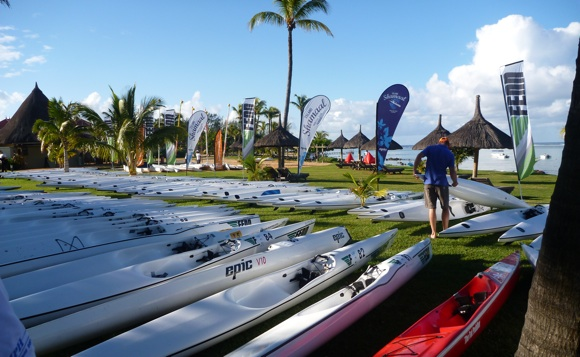 Pre-race scene... could this be the world's best location for a surfski race?